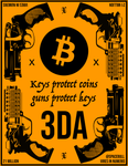 #3DA and bitcoin Sticker