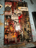 """bitcoin, END WAR HERE"" Original 1/1 2020 #MVDEX"