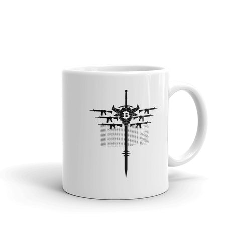 Bull Bitcoin Iron Cross Mug