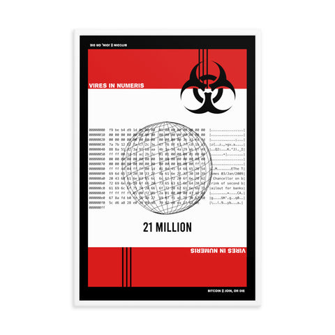 21 Million TOXIC Print by @SpaceBull