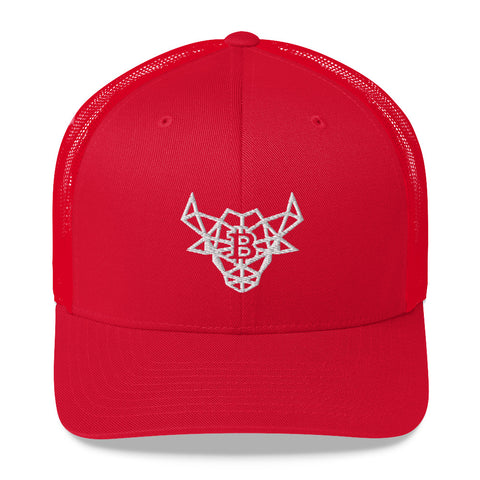 Bull Bitcoin Version 3 Red/Black Trucker