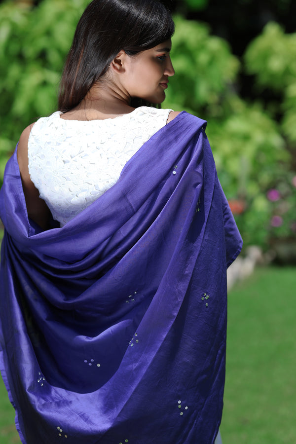 Morning Glory - Pure Chanderi Silk Saree