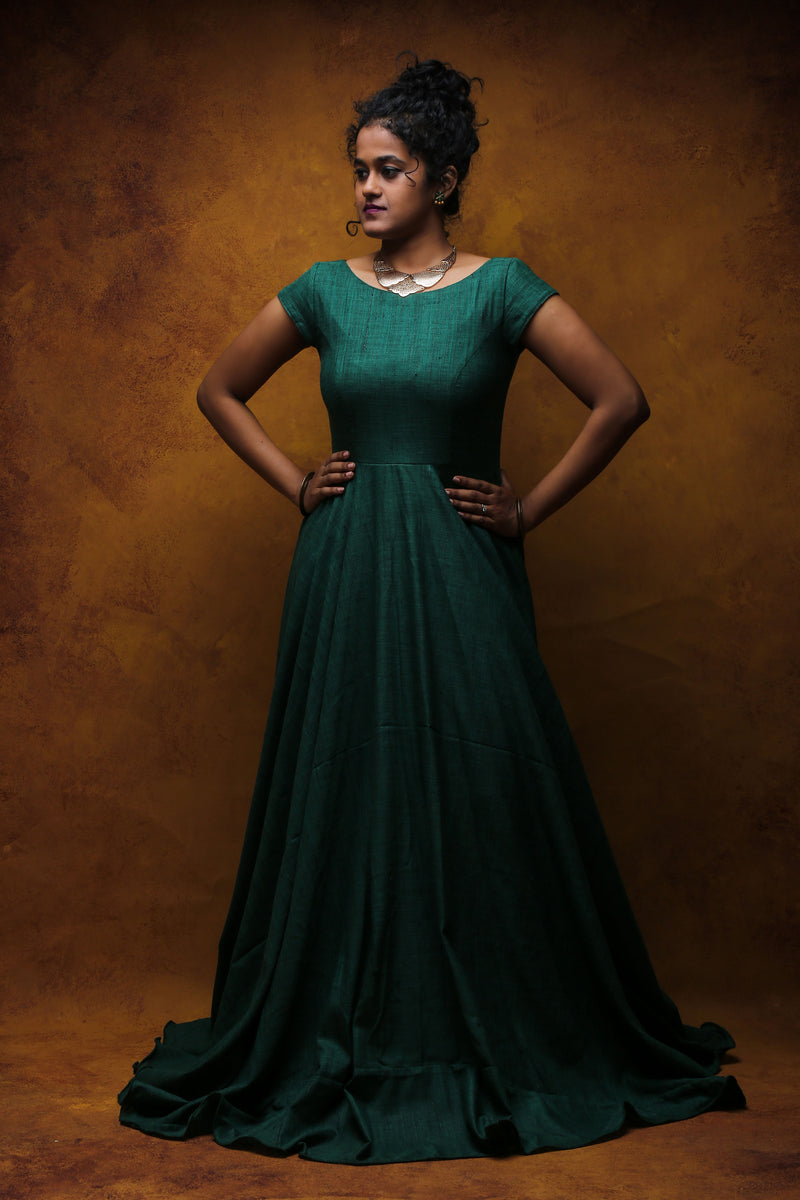 Green Long Dress / Evening gown