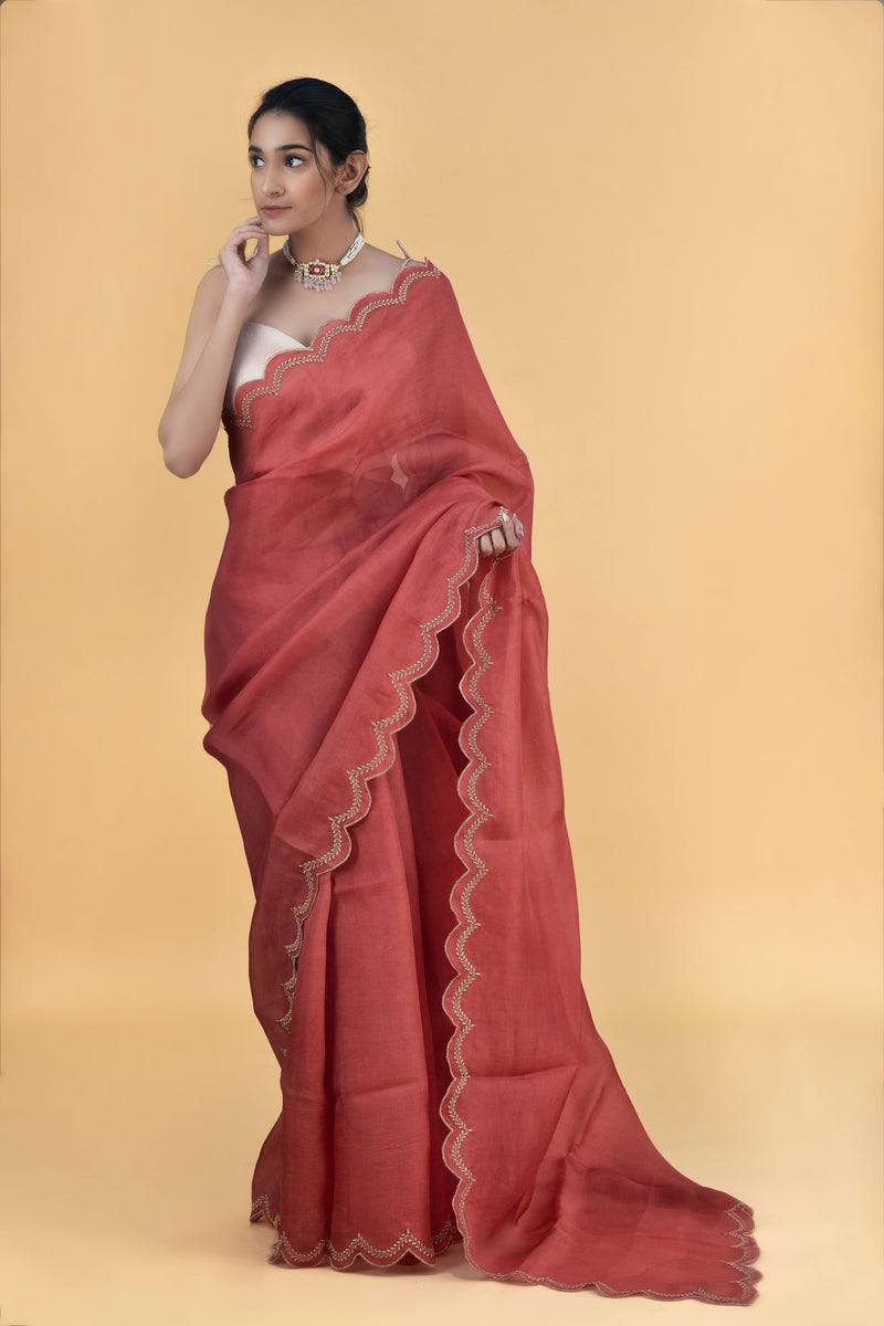 Amber - Pure Organza Silk Saree