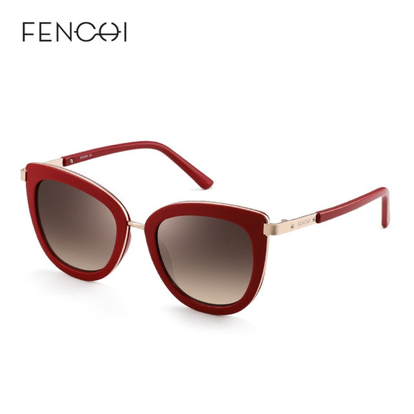 FENCHI New Cat Eye RED GOLD Sunglasses Women - Amore Rouge