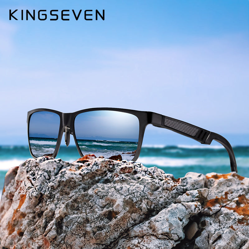 KINGSEVEN Brand Glasses Square Polarized Sunglasses - Ecosphere