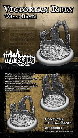Wyrd victorian 40mm  2 x wyrdscapes scenic bases