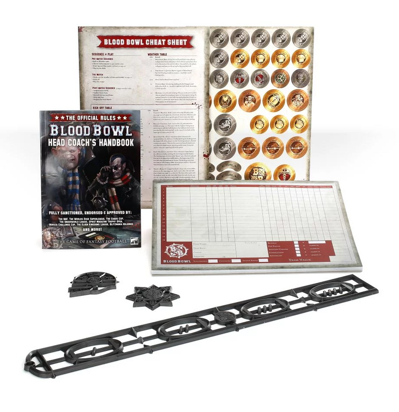 games workshop bb head coachs rules  accessories pack