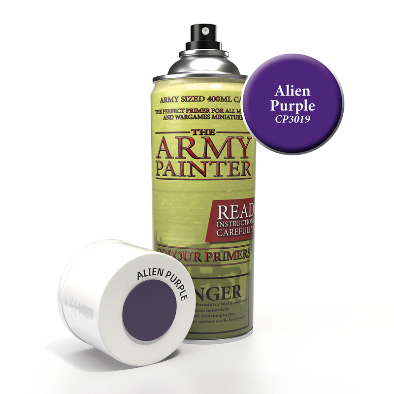 army painter colour primer alien purple aerosol spray paint
