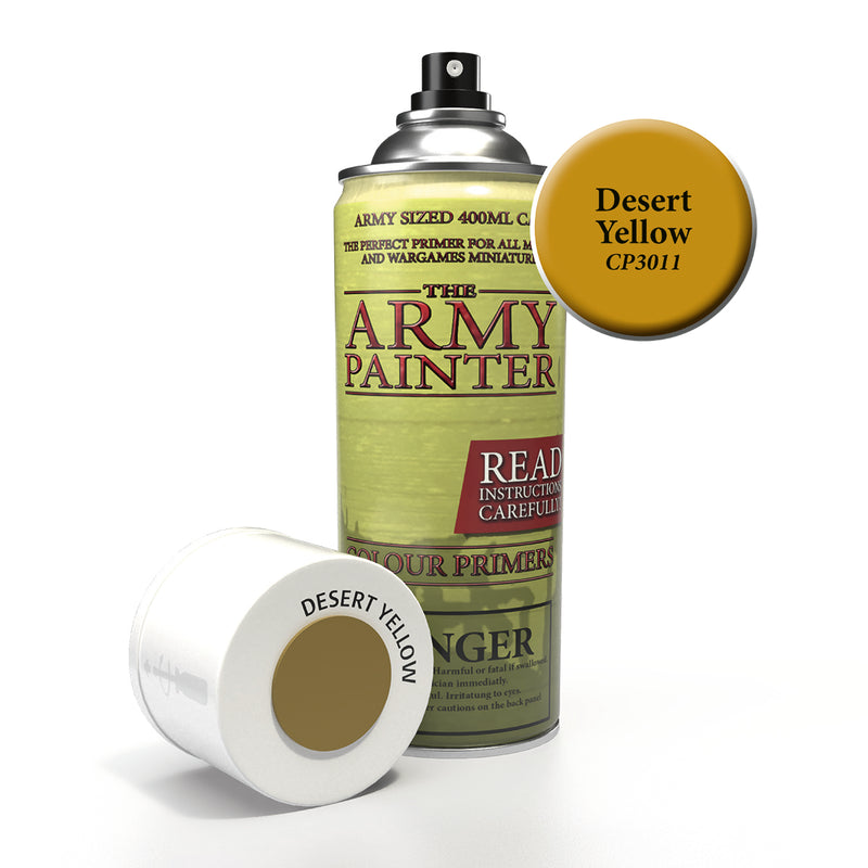 army painter colour primer desert yellow aerosol spray paint