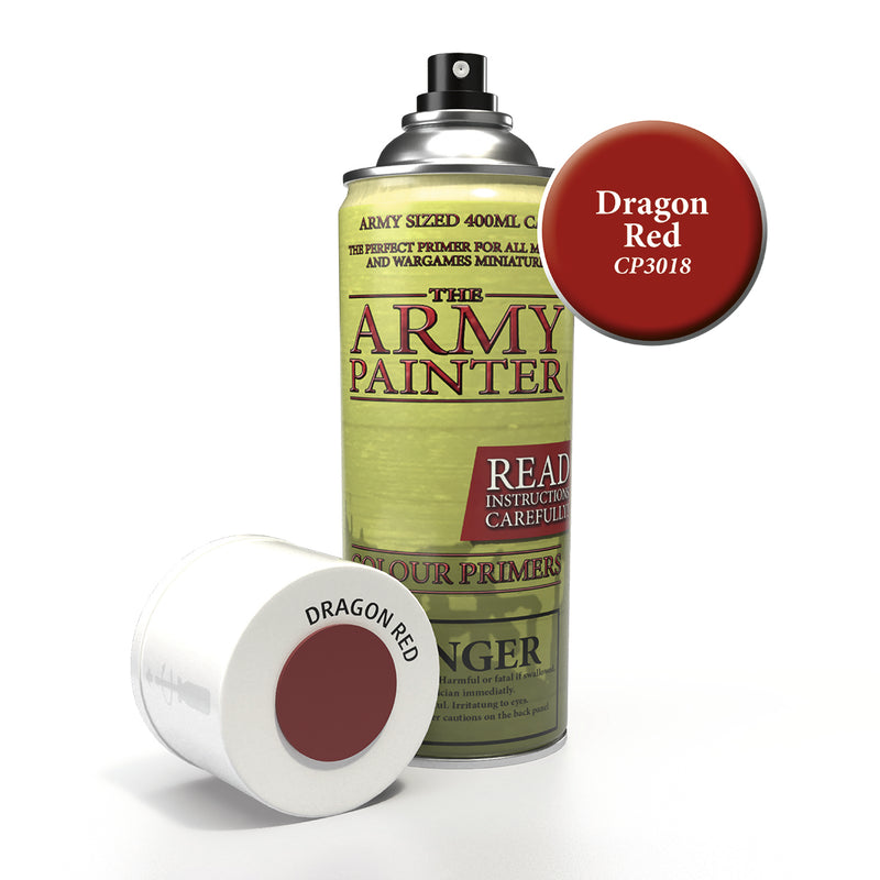 army painter colour primer dragon red aerosol spray paint