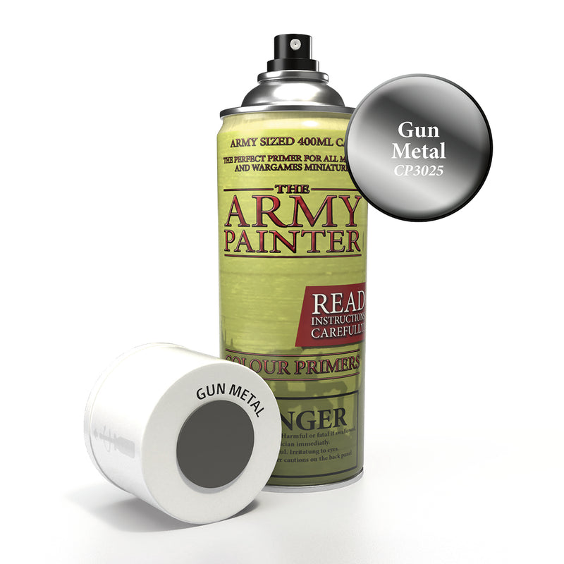 army painter colour primer gun metal aerosol spray paint