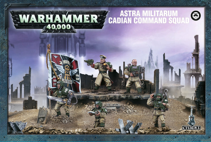 games workshop astra militarum cadian command squad