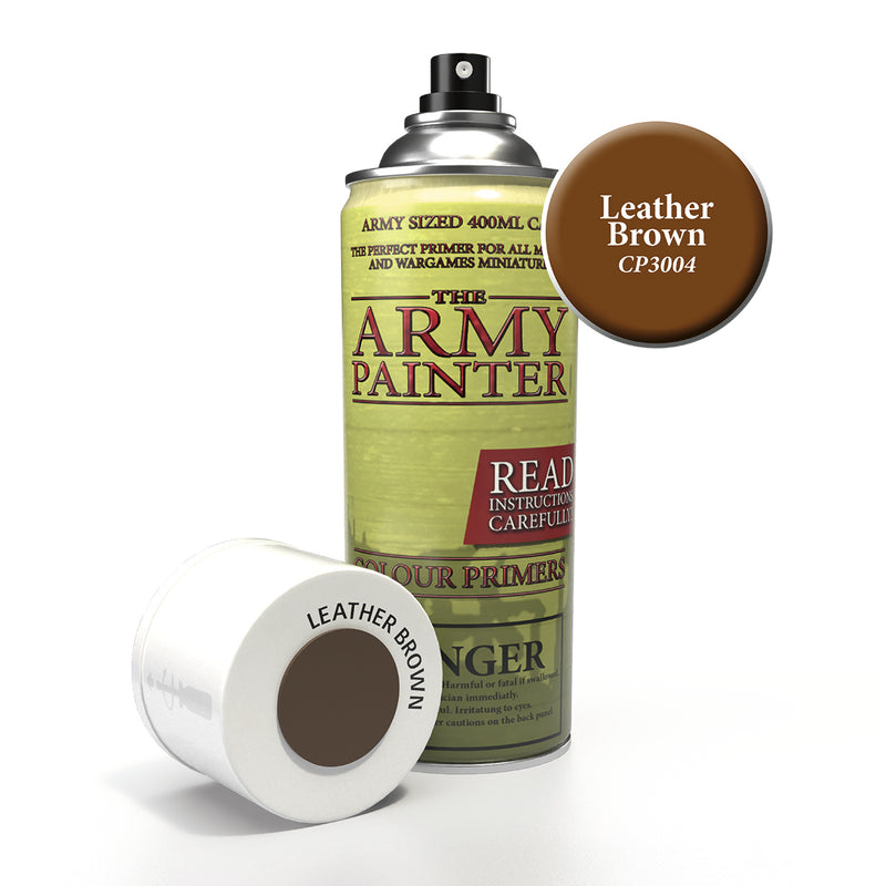 army painter colour primer leather brown aerosol spray paint