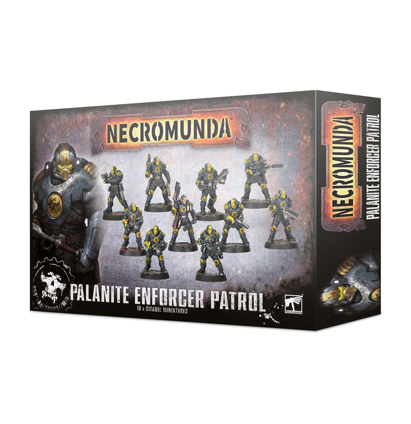 games workshop necromunda palanite enforcer patrol