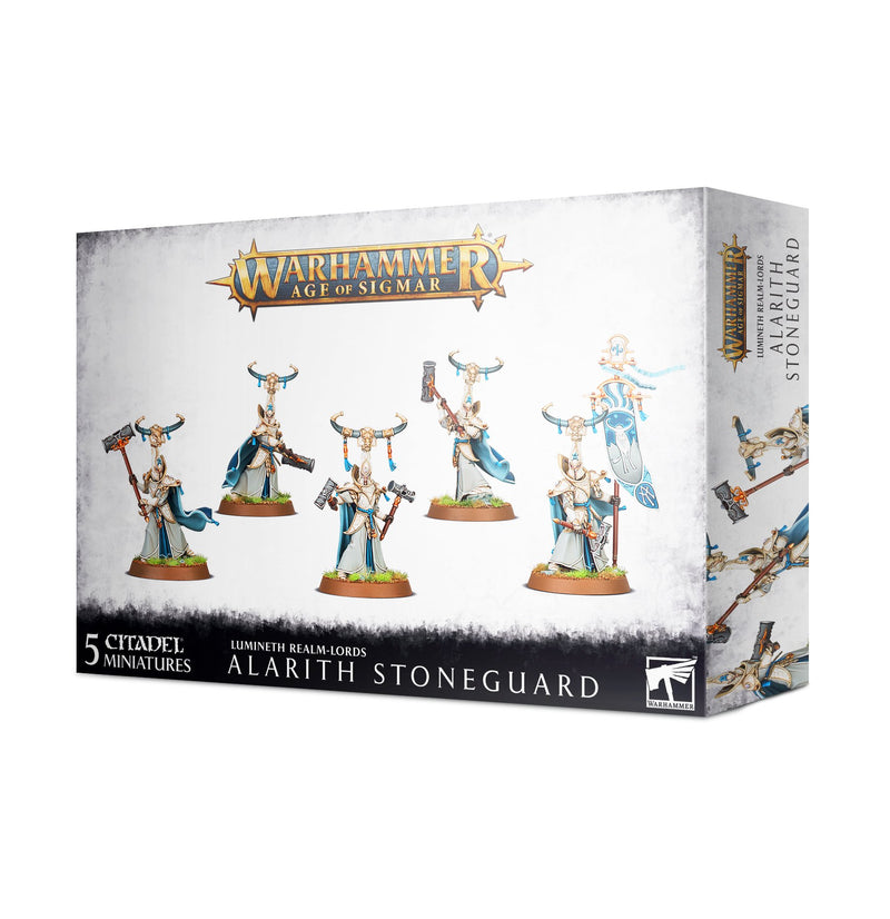 games workshop lumineth realm lords alarith stoneguard