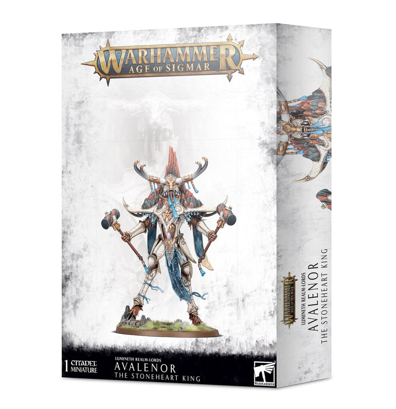 games workshop lumineth realm lords avalenor the stoneheart king
