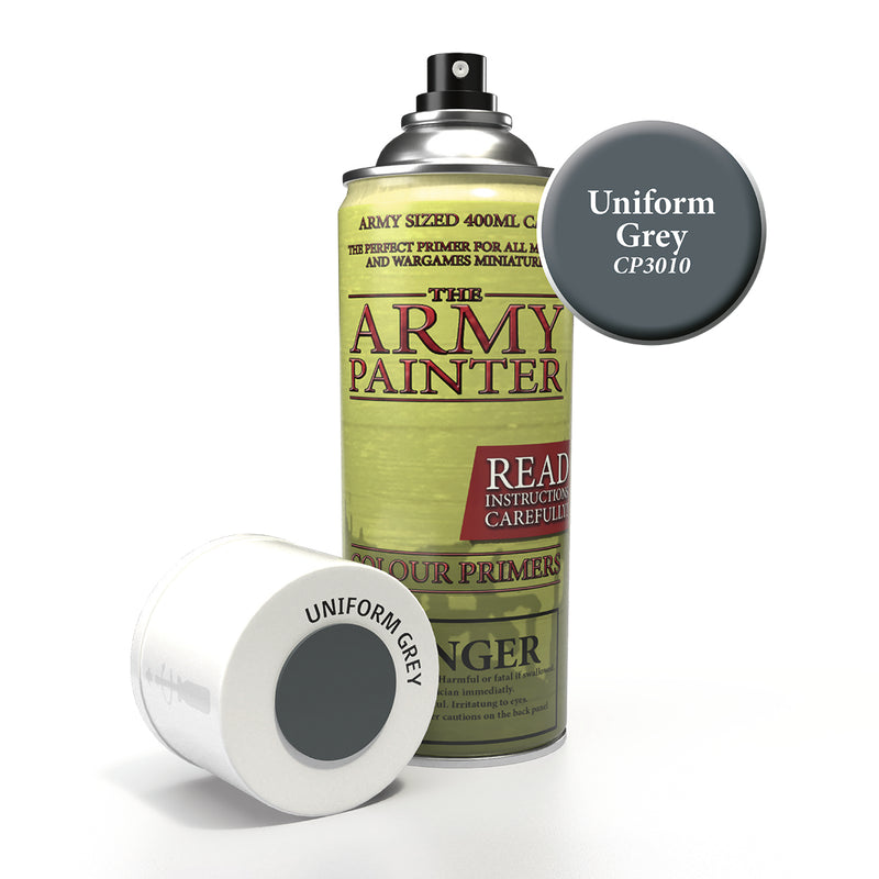 army painter colour primer uniform grey aerosol spray paint