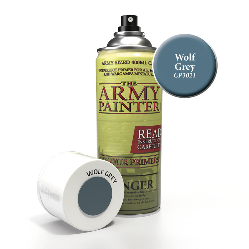 army painter colour primer wolf grey aerosol spray paint