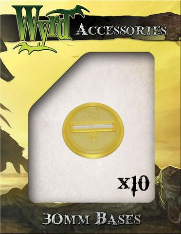Wyrd gold translucent bases 30mm