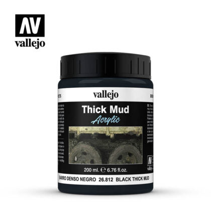 vallejo vallejo weathering effects 200ml  black thick mud
