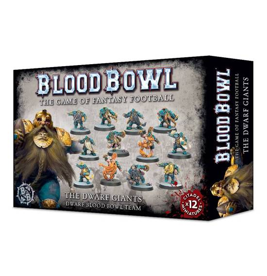 games workshop the dwarf giants blood bowl team