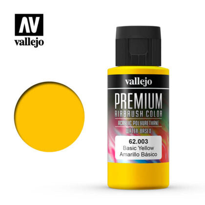 vallejo premium color 60ml  basic yellow