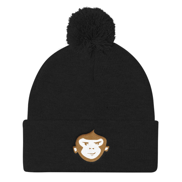 Black + Old Gold & White Beanie