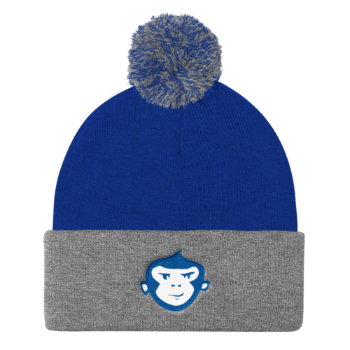 Royal/Heather Grey + Royal & White Beanie