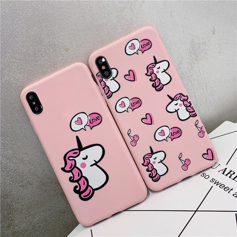 Coque iphone Licorne rose kawaii - Licorne Store ™