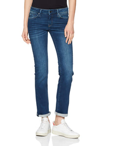 Mavi Olivia Jeans Straight, Blu (Shaded Glam 27390), W30/L34 Donna