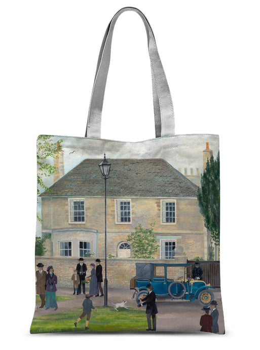 Churchgate House as used in Downton Abbey Sublimation Tote Bag