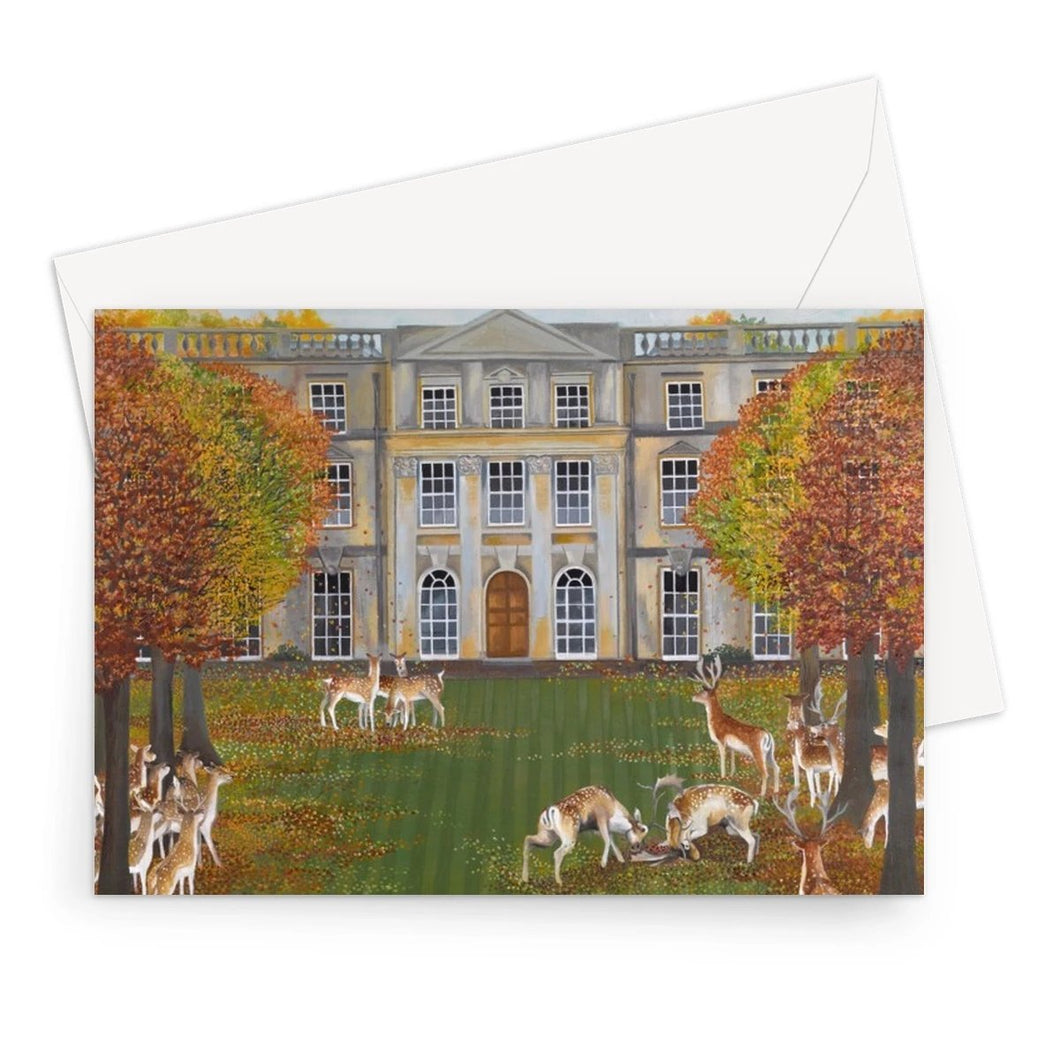 Barnsley Park in Autumn Greeting Card