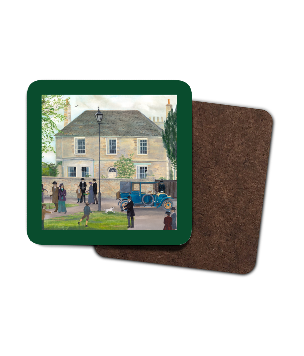 Churchgate House as used in Downton Abbey Coaster - 4 Pack