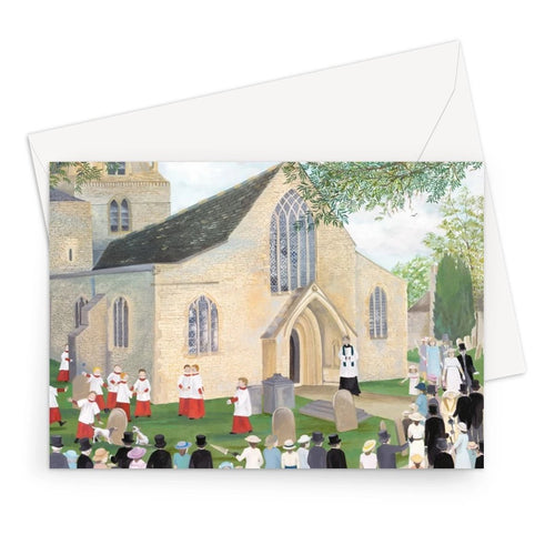 Bampton Church as used in Downton Abbey Greeting Card