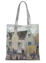 Load image into Gallery viewer, Bampton Grammar School as used in Downton Abbey Sublimation Tote Bag