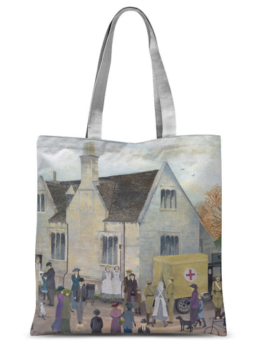 Bampton Grammar School as used in Downton Abbey Sublimation Tote Bag