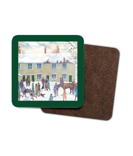 Bampton Village Square as used in Downton Abbey Coaster - 4 Pack