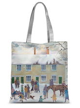 Load image into Gallery viewer, Bampton Village as used in Downton Abbey Sublimation Tote Bag