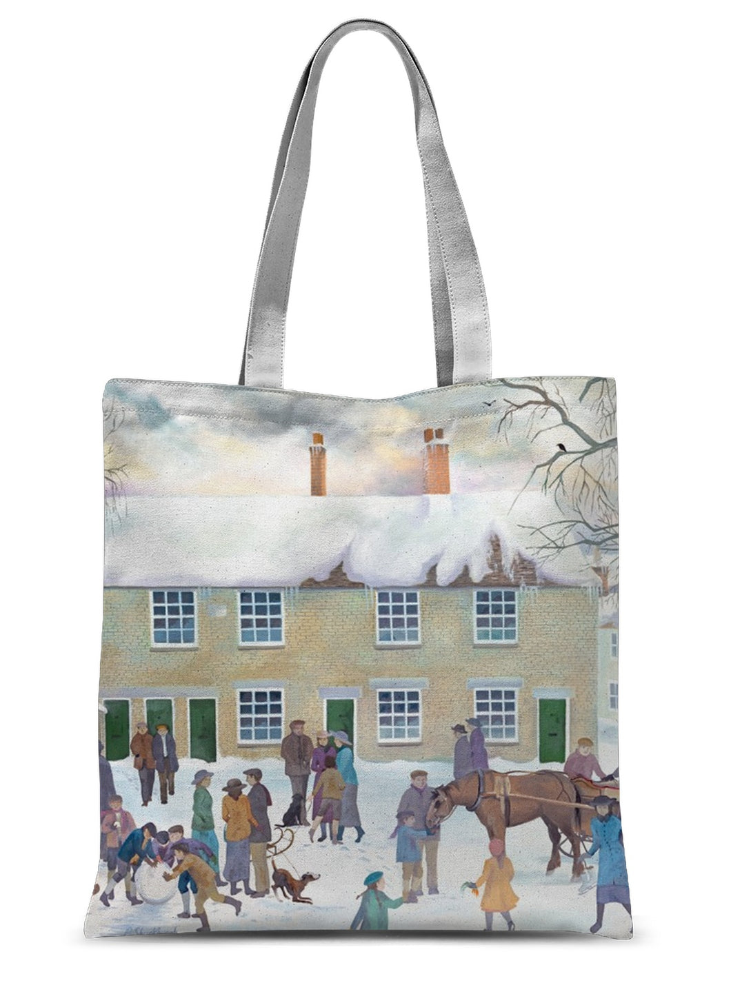 Bampton Village as used in Downton Abbey Sublimation Tote Bag