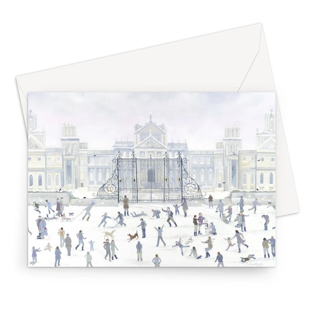 Blenheim Palace in Winter Greeting Card