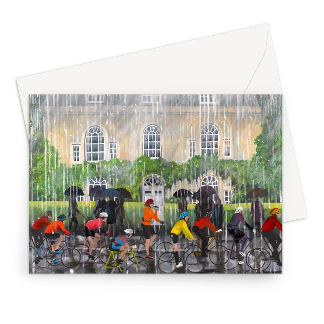Bampton in the Rain Greeting Card