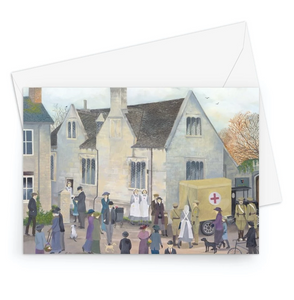 Bampton Grammar School as used in Downton Abbey Greeting Card