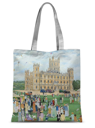 Highclere Castle as used in Downton Abbey Sublimation Tote Bag