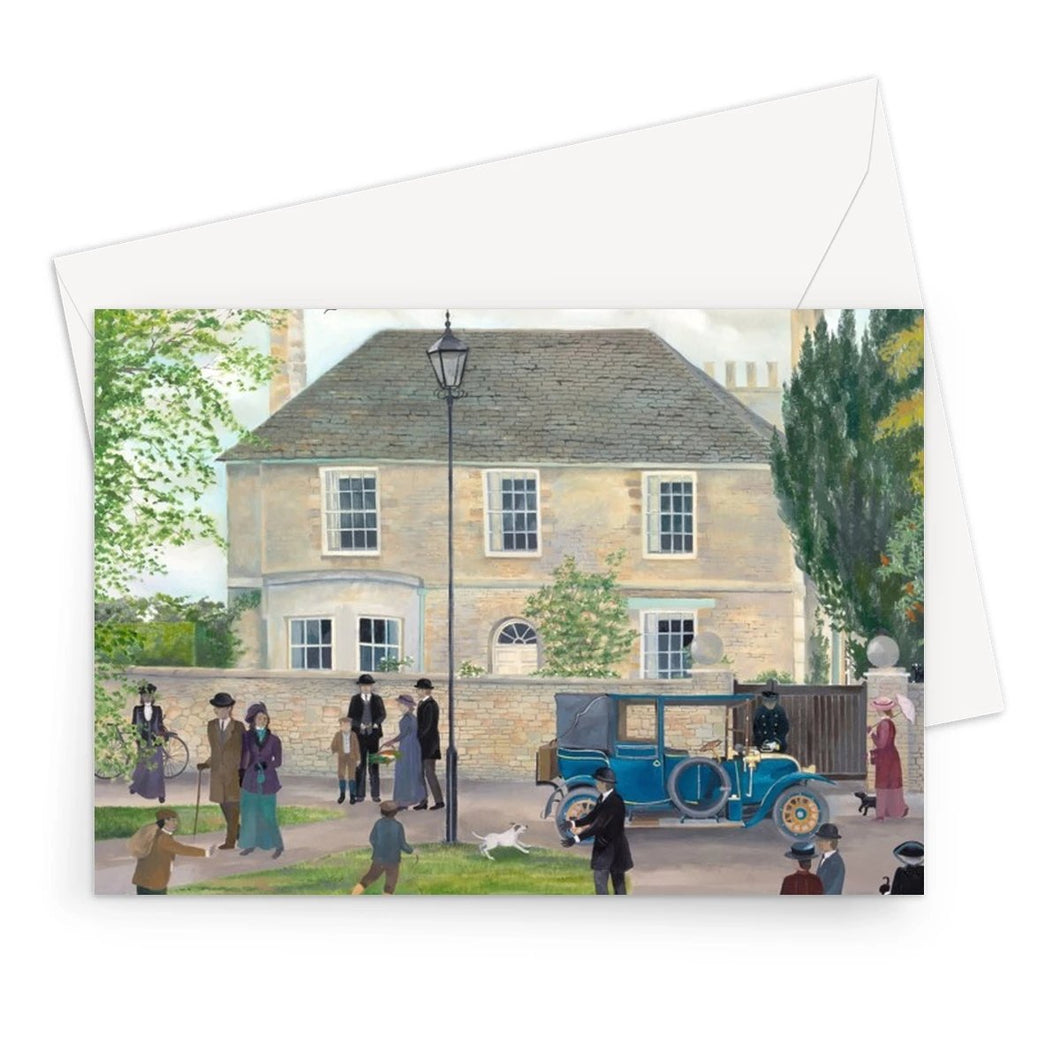 Churchgate House as used in Downton Abbey Greeting Card