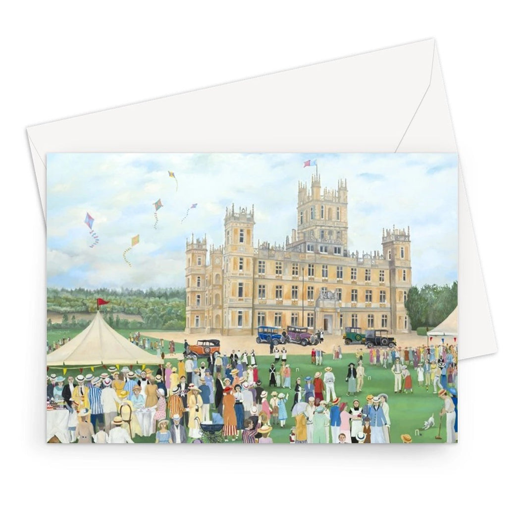 Highclere Castle as used in Downton Abbey Greeting Card