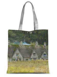 Arlington Row in Bibury Sublimation Tote Bag