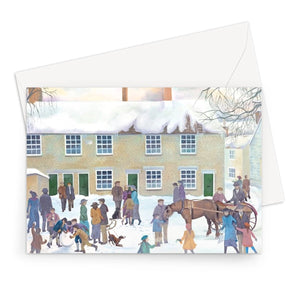 Bampton Village as used in Downton Abbey Greeting Card