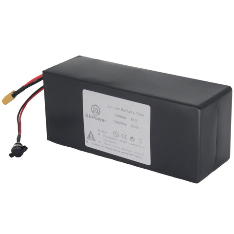 Ebike Battery 36V 10AH, Li- ion Battery Pack with 3A Charger and BMS(18650cell)