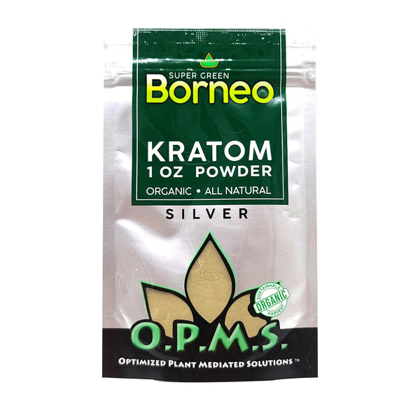 OPMS SILVER KRATOM POWDER 1oz